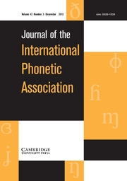 Cover photo of the Journal of the International Phonetic Association (JIPA)