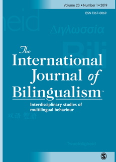 Cover photo of International Journal of Bilingualism