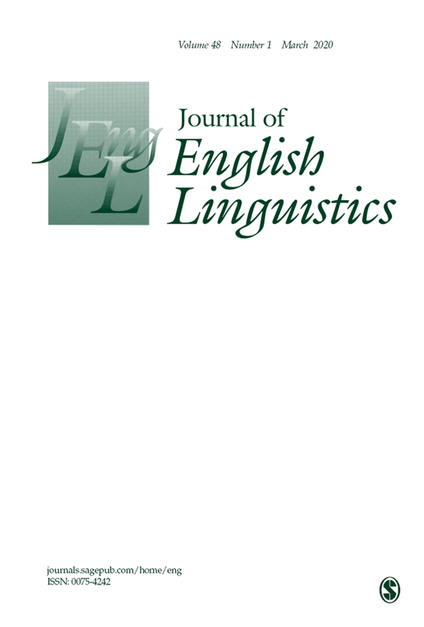 Cover photo of Journal of English Linguistics