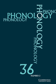Cover photo of Phonology 36.2